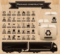 Vector package constructor. Packaging symbols Royalty Free Stock Photo