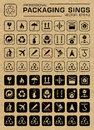 Vector Packaging Grunge Icons Set