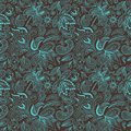 Vector Paisley Ethnic Pattern