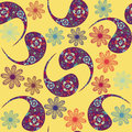 Vector paisley seamless pattern and seamless pattern in swatch m menu oriental can be used for Royalty Free Stock Photo