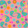 Vector paisley seamless pattern and seamless pattern in swatch m menu oriental can be used for Stock Photography