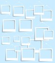 Vector palaroid pattern photo frame banner illustration Royalty Free Stock Photo