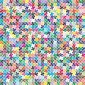 Vector palette. 484 different colors chaotically scattered in a shape of four-leaf clover.