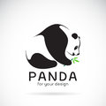 Vector of a panda design on a white background.