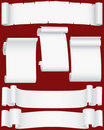 Vector paper banners and scrolls Royalty Free Stock Photo