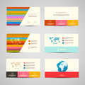 Vector Paper Business Cards Template Set Royalty Free Stock Photo
