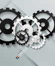 Vector paper gear modern design this is file of eps format Stock Photo