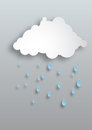 Vector paper rain lovely minimal design of a cloud Stock Photography