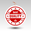 Vector paper red best quality stamp price tag label Royalty Free Stock Photo
