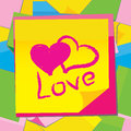 Vector paper sticker with heart Royalty Free Stock Images