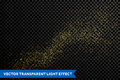 Vector particles golden dust, shimmering glitter texture Royalty Free Stock Photo