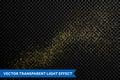 Vector particles golden dust, shimmering glitter texture