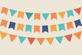 Vector party flags in pastel palette Royalty Free Stock Image