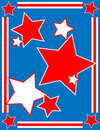 Vector Patriotic Star Background Royalty Free Stock Photo