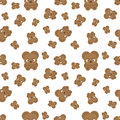 Vector pattern with bear cubs.