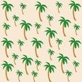 Vector pattern of coconut tree