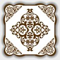 Vector East pattern, Asia style as a template for tiles, backgrounds, covers, postcards, wallpaper, textiles.