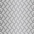 Vector pattern with geometric waves. Endless stylish texture. Ripple monochrome background.
