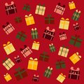Vector pattern with gift boxes