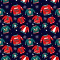 Vector pattern for holiday events as Ugly Christmas Sweater party