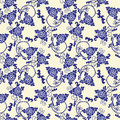 Vector pattern Imitation of chinese porcelain painting Royalty Free Stock Photo