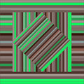 Vector pattern with lined squares. Abstract brown and green texture.