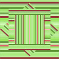 Vector pattern with lined squares. Abstract green texture. Geom