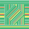 Vector pattern with lined squares. Abstract green texture. Royalty Free Stock Photo