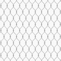 Vector pattern. Modern dotted texture. Repeating abstract background. Simple wavy linear grid. Graphic minimalist backdrop.