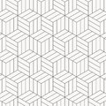 Vector pattern. Modern stylish texture. Repeating geometric tiles. Striped monochrome cubes.