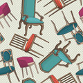Vector pattern with old armchairs.