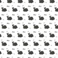 Vector pattern of ornament pattern with white rabbit hare and white letters and white heart font bunny protection animal on dark g