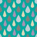 Vector pattern with rain drops. Seamless cute background. Abstract