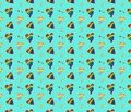 Vector pattern with rainbow hearts. Gay pride flag colored illustration. Trendy stylish texture. Repeating colorful tile, artwork