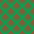 Vector pattern - red and green squamous Royalty Free Stock Photo