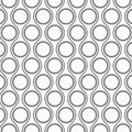 Vector pattern, repeating circles and wavy line, modern stylish monochrome Royalty Free Stock Photo