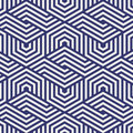 Vector pattern. repeating hexagon grid. Abstract stripped geometric background. Vector illustration. Royalty Free Stock Photo