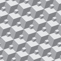 Vector pattern seamless three dimensional patter monochrome from simple shapes Stock Image