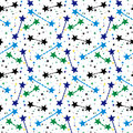 Vector pattern with stars Royalty Free Stock Photo