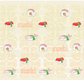 Vector pattern with sushi illustration Royalty Free Stock Photography