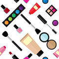 Vector pattern with various cosmetic products