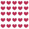 Vector Pattern of Vinous Hearts