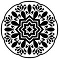 Beautiful Vintage Mandala Design in White Background.