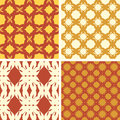 Vector patterns cake set of seamless minimalism Stock Photography