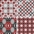 Vector patterns cherry set of seamless minimalism Royalty Free Stock Photo