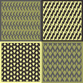 Vector patterns set of seamless minimalism Royalty Free Stock Photography