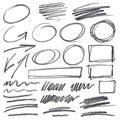 Vector pencil scribbles