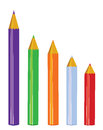 Vector pencils white background Stock Photography