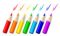 Vector pencils white background Royalty Free Stock Image