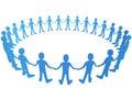 Vektor lidé v kruh